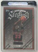 1996 Topps Finest Sterling 50 Michael Jordan Basketball Card w/Protector Coating