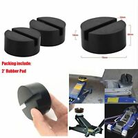 Car Vehicle Rubber Pad Jack Guard Adapter Slotted Frame Block 2X 7.5cm Universal