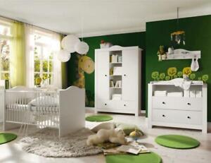 Babyzimmer Paris 5tlg Babyzimmerset komplett Babymöbel Komplettzimmer Kinderbett