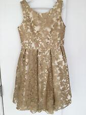 Girls Ivory And Gold Biscotti dress size 12