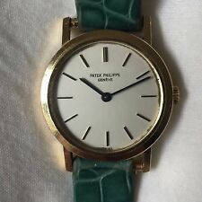 100% Authentic Patek Philippe Ladies Calatrava 18k Y. Gold Watch 4184 With Case