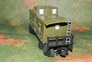 K-line Lighted Caboose ~ US ARMY ~ Rd# DODX 6134 - O-27