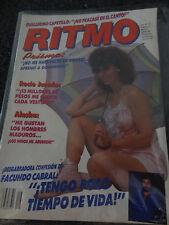 RITMO revista Magazine Mexico Prisma Rocio  Mexico musica 1986 classico  80s