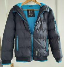 Spindle Boy's Black Puffa Jacket Padded Winter Coat Fleece Lined Age 13-14