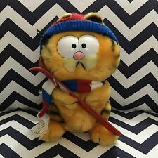 "Vintage 1981 Skiing Garfield The Cat Dakin 10"" Plush Toy Doll"