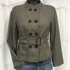 SIZE 6P - ANN TAYLOR LOFT Petites Wool Blend Belted Jacket Fully Lined