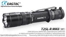 Eagletac T25LR MKII CREE XHP35 HD CW LED Rechargeable Flashlight KIT 2200 Lumen