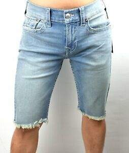 True Religion Men's Ricky Big T Cruise Blue Relaxed Straight Shorts - 103588