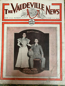 THE VAUDEVILLE NEWS Nov 23,1923 first WALTER WINCHELL column rareTRADE MAGAZINE
