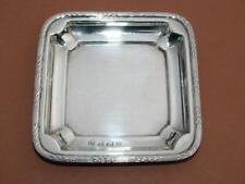 Moneda de plata esterlina sólida/Bandeja de tarjeta de llamada Ley 1920 por S.w Smith 42g