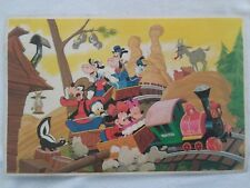Walt Disney Vintage Frontierland Railroad Placemat Mickey Minnie Goofy Donald