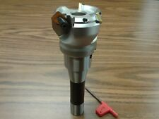 "2"" 45 degree indexable face shell mill w. R8 Arbor,face milling cutter --new"