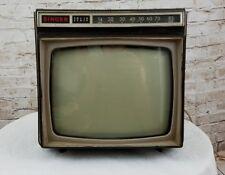 Vintage Singer Solid State UHF VHF Retro Portable Television Model HE8121 Works