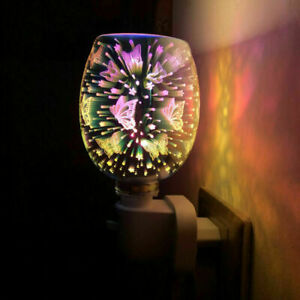 Mosaic Electric Plug-In LED Aroma Lamp Wax Melter Oil Burner Warmer Bitterfly UK