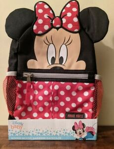 Disney Baby Minnie Mouse Mini Backpack Safety Harness Toddlers Bag