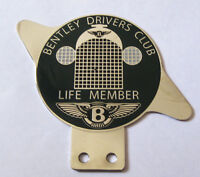 Car Badge-Bently Drivers club Life Member Car grill badge emblem logos metal ena