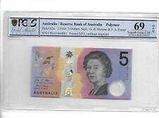AUSTRALIA 2016 5 DOLLARS P#62a PCGS 69 OPQ SUPERB GEM UNC NOT PMG