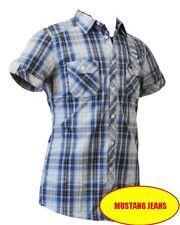MUSTANG Jeans 4474 4649 524 Chemisette Jim homme carreaux bleu blanc Taille S