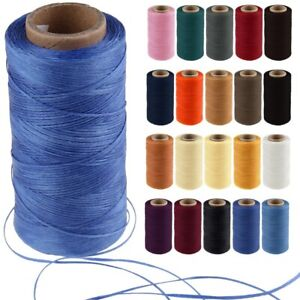 260m 1mm Flat Sewing Coarse Braid Waxed Wax Thread Cord For Leather Shoes Repair