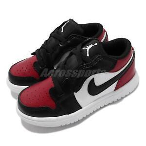 Nike Jordan 1 Low ALT TD Bred Toe Black Red Toddler Infant Casual CI3436-612