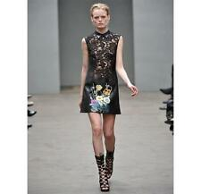 Christopher Kane Runway Lace/Leather Dress 12UK