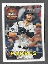 ERIC HOSMER 2018 Topps Heritage High SP THROWBACK Photo Variation SSP Padres 709