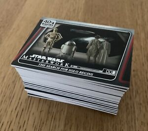 2020 Topps Star Wars Masterwork Complete ESB 40th Empire Insert Set ESB 1-25