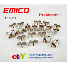 10 Sets of PL-259 Type Crimp/Solder UHF Plugs RG8 RG213, RG214, LMR400 (UC001A)