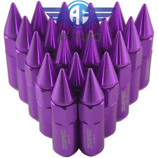 20PCS Purple 60MM M12X1.5 Cap Spiked Extended Tuner Aluminum Wheels Rim Lug Nuts
