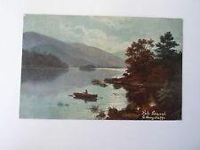 Vintage Colour Postcard Loch Lomond -  E Longstaffe - Franked & Stamped 1905