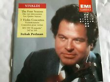 VIVALDI FOUR SEASONS & 3 VIOLIN CONCERTOS  ITZHAK PERLMAN CD LONDON&ISRAEL PHILH