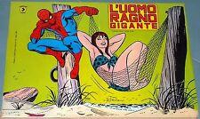 """Poster originale anni '80 dell'Uomo Ragno con """"amica"""" su """"amaca"""" misure 27x40 cm"""