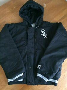 Vintage MLB Starter Chicago White Sox Puffer Coat Black Youth Boy's size L