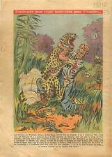Hunting Hunter Leopard West Africa Chasseur Chasse Léopard 1954 ILLUSTRATION