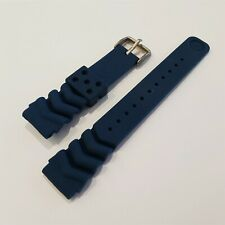 NEW FOR SEIKO RUBBER STRAP BLUE PADI WAVE Z20 BAND 20mm 4205 7S26 0030 0050 BLUE