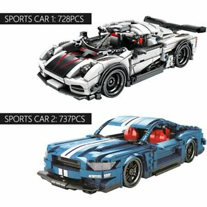 Techinque Series Racing Car Building Blocks Pull-back Cars Toy Bricks 728/737PCS