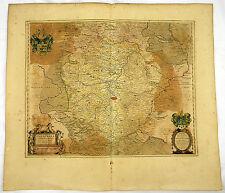 THÜRINGEN ERFURT GOTHA EISENACH ALTKOL KUPFER KARTE GOLDHÖHUNG BLAEU 1662 #D936S