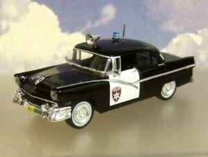 ATLAS WORLD POLICE CARS 1/43 FORD FAIRLANE OAKLAND POLICE CALIFORNIA USA 1956