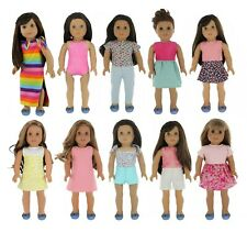 PZAS Toys 18 Inch Doll Clothes Fits American Girl Doll Clothes Wardrobe Makeover