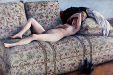 Nude on a Couch by Gustave Caillebotte 75cm x 50cm Canvas Print