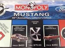 Monopoly Mustang 40th Anniversary Edition Board Game - Missing Rules
