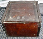 EARLY ANTIQUE C. R. SHERMAN NEW BEDFORD WHALING DRY COMPASS W/ SLIDE OUT TOP N/R