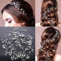 Gorgeous Pearl Rhinestone Wedding Bridal Tiara Headband Bride Hair Accessories