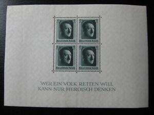 THIRD REICH Mi. #Block 7 scarce mint stamp sheet! CV $28.75