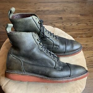 Allen Edmonds Eagle County Sz 11 Boots Wedge Olive Leather