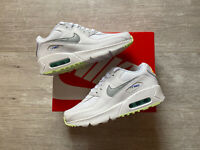 NIKE AIR MAX 90 GS WOMENS TRAINERS UK3/US3.5Y/EU35.5 WHITE CZ5868-100 90 95 98