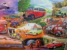 *ICONIC ENGINES - TRAINS, CARS, BIKES* GIBSONS 1000 PIECES JIGSAW PUZZLE. NEW!