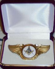 Masonic Square Compass Lodge Biker Motorcycle Wing Vest Jacket Pin Badge Medal