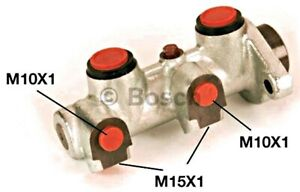 BOSCH Brakes Master Cylinder Fits CHEVROLET Lanos Sedan DAEWOO 97-