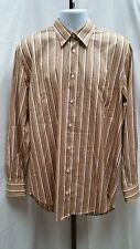 Woven in Italy Hickey Freeman Striped Dress Shirt Size L Large Pre-owned H112